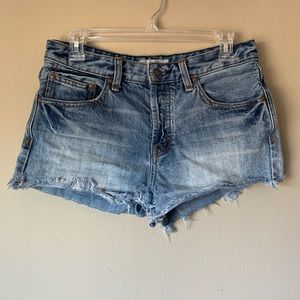 Free People Denim Jean Shorts Light Medium Wash